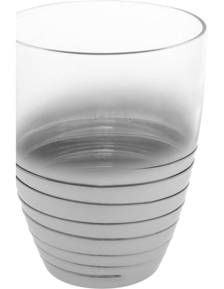 Ombre Swirl Silver Glass Tumbler 8x10cm image 2