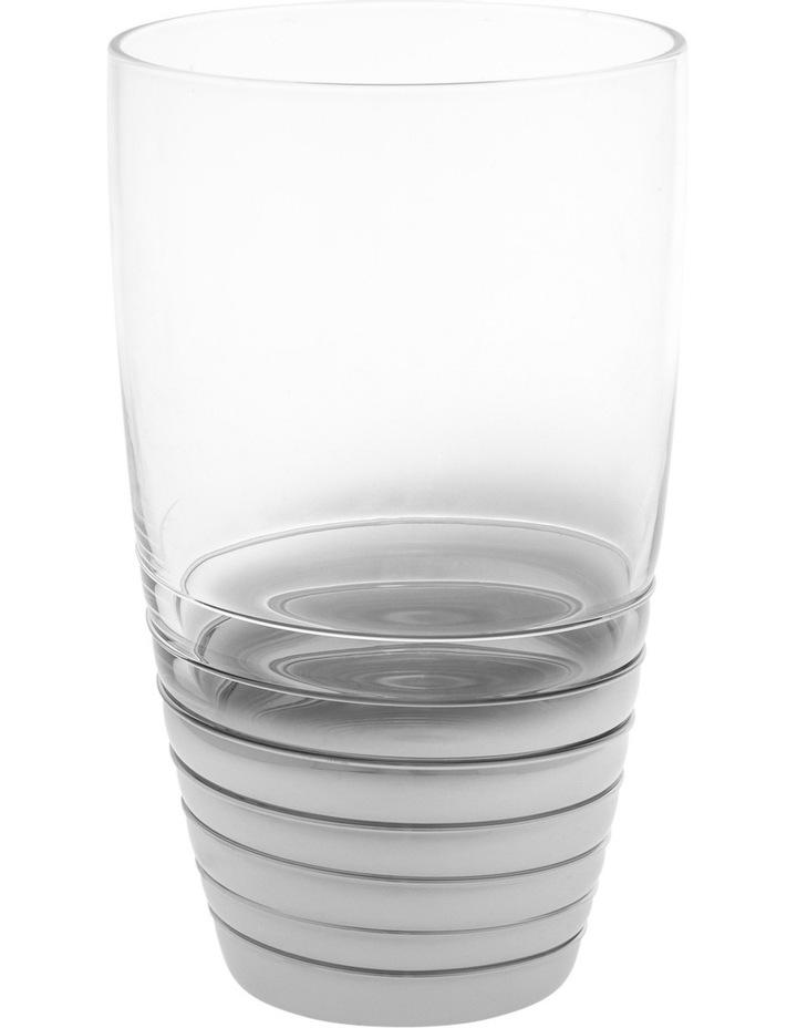 Ombre Swirl Silver Hiball Glass 8x14.5cm image 1