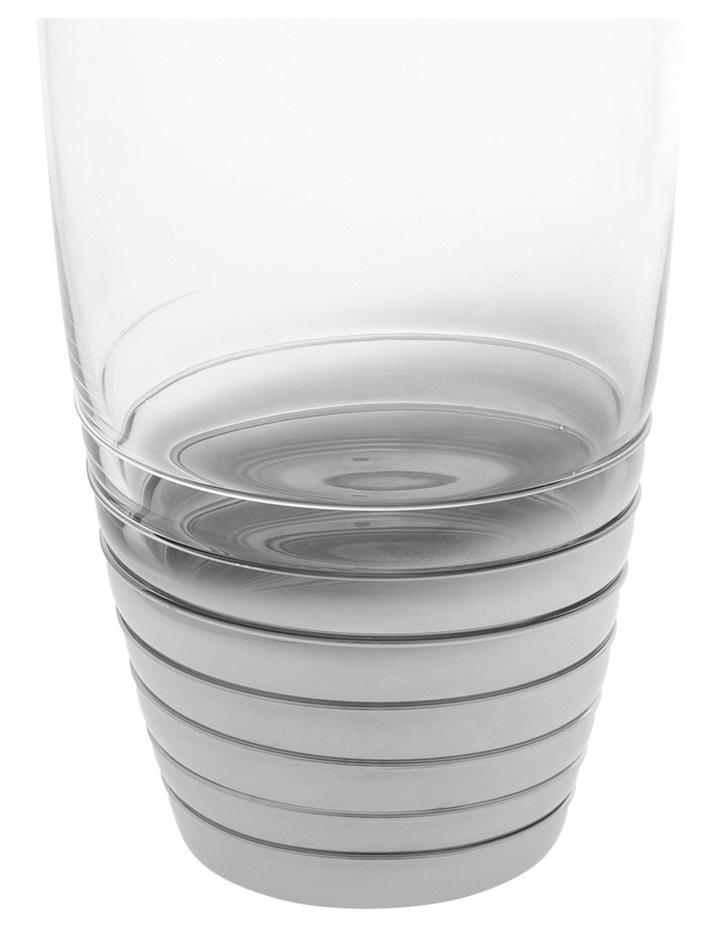 Ombre Swirl Silver Hiball Glass 8x14.5cm image 2