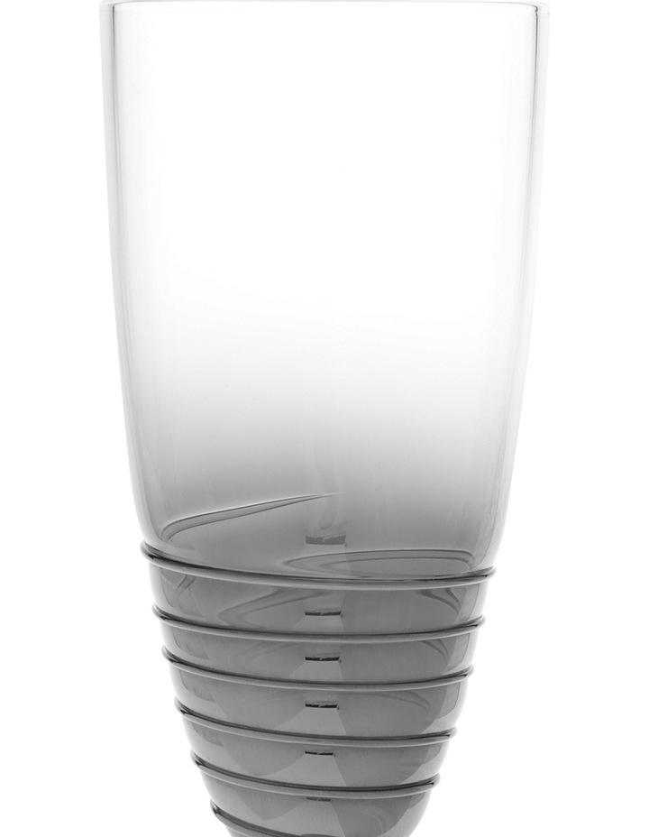 Ombre Swirl Silver Champagne Glass 6x26cm image 2