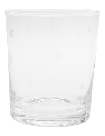 32bcd4b900c Heritage Clear Star Etching Glass Tumbler