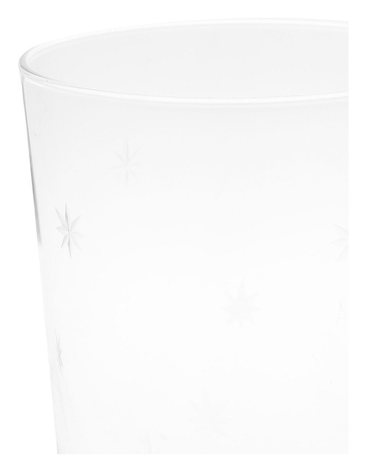 Clear Star Etching Hiball Glass image 2