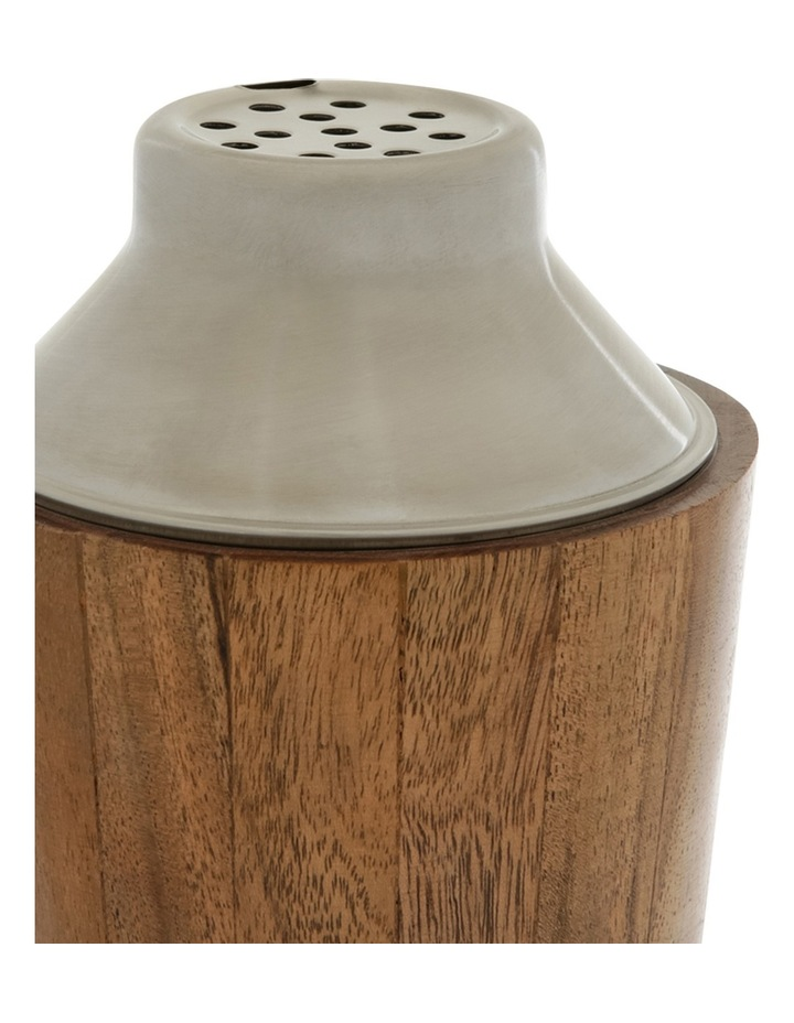 Matt Silver & Wood Cocktail Shaker image 2
