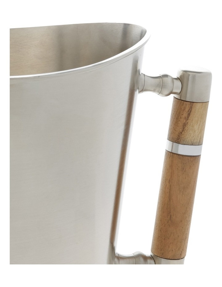 Matt Silver & Wood Wine Cooler image 2