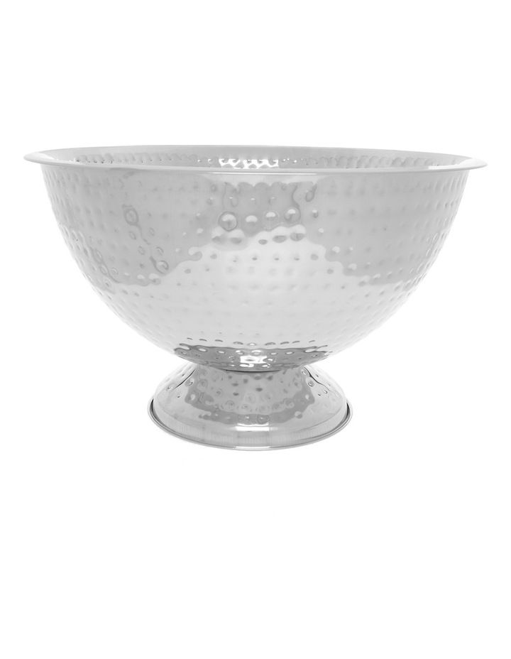 Stainless Steel Shiny Hammered Champagne Tub image 1