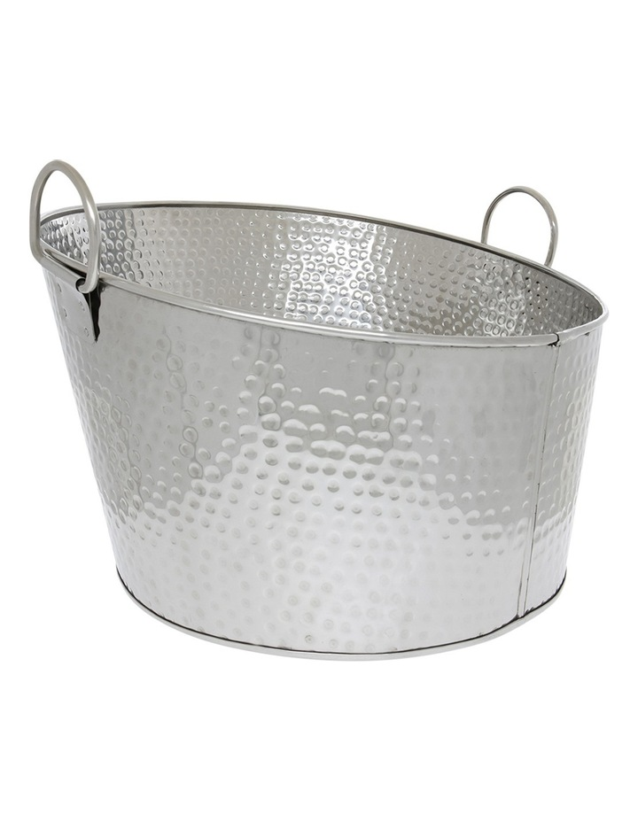 Angular Hammered Polished Beverage Tub image 1
