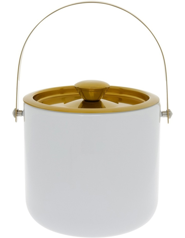 White/Gold Stainless Steel Ice Bucket image 1