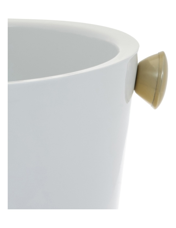White/Gold Stainless Steel Wine Cooler image 2