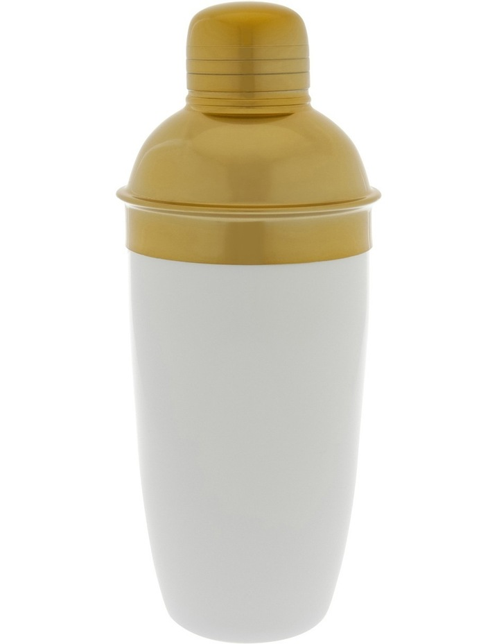 White/Gold Stainless Steel Cocktail Shaker image 1