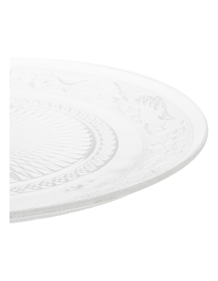 Clear Glass Side Plate 20cm image 2