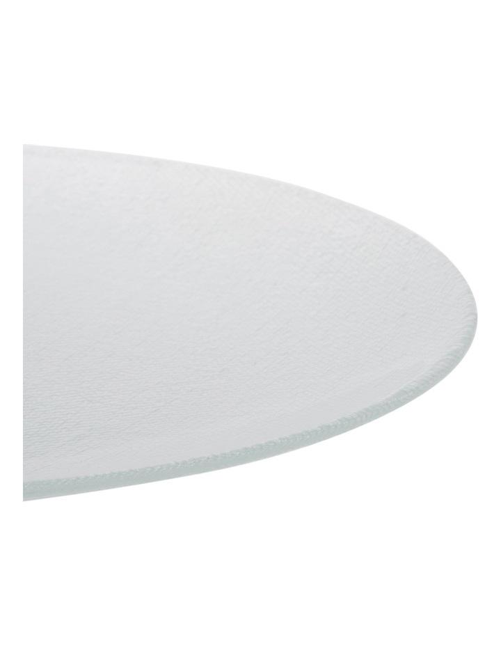 Cotton Print Glass Platter 32cm image 2