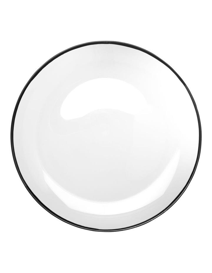 Manhattan Plate with Black Rim 32cm image 1