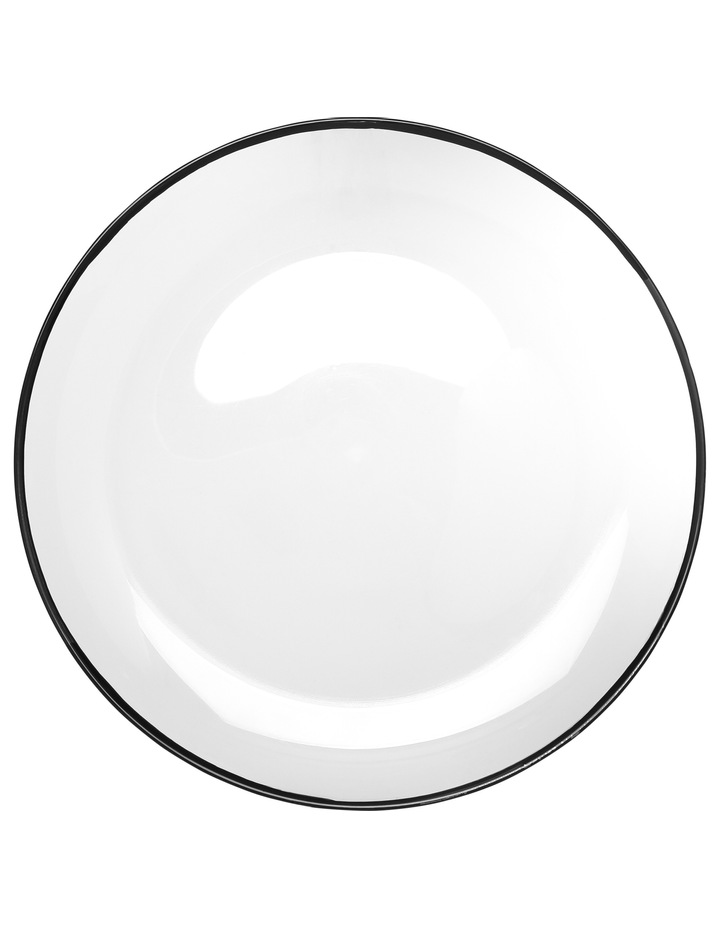 Manhattan Plate with Black Rim 32cm image 2