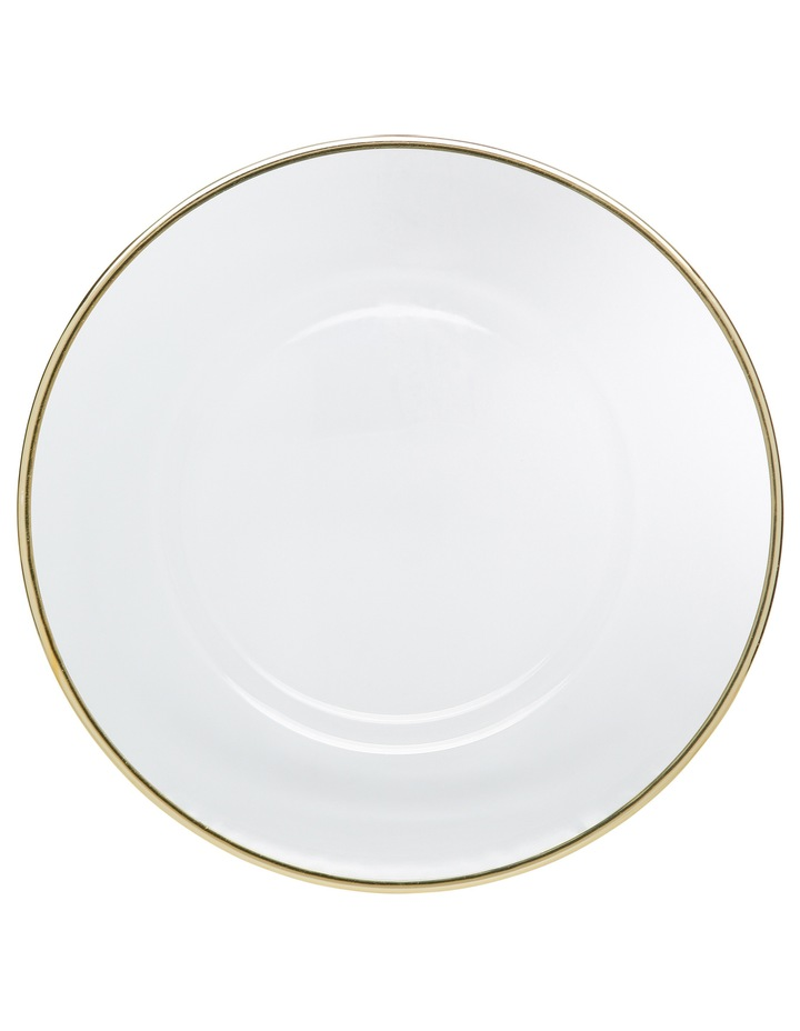 Verona Plate with Gold Rim 32cm image 2