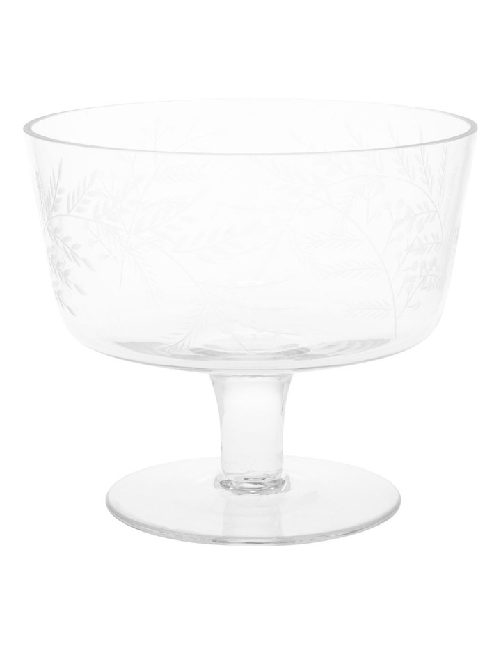 Etched Bloom Trifle Bowl Small image 1