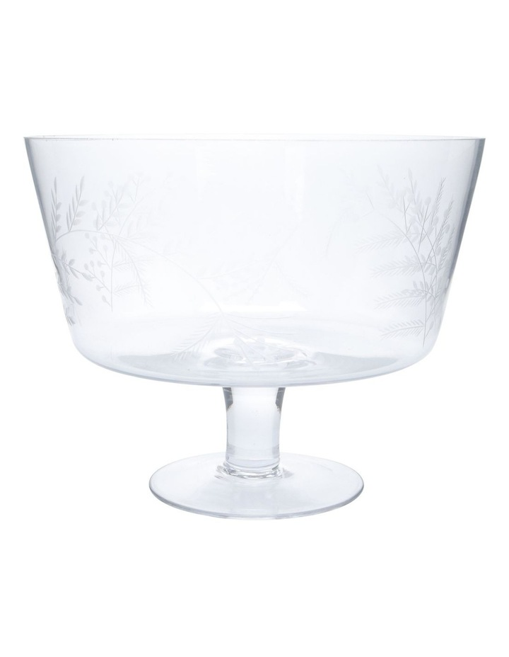 Etched Bloom Trifle Bowl Large image 1