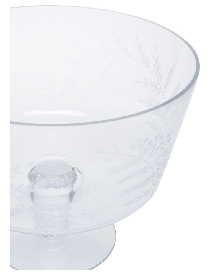 Etched Bloom Trifle Bowl Large image 2