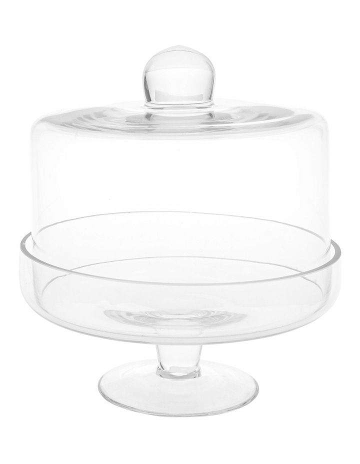Evelyn Glass Cake Dome and Stand image 1