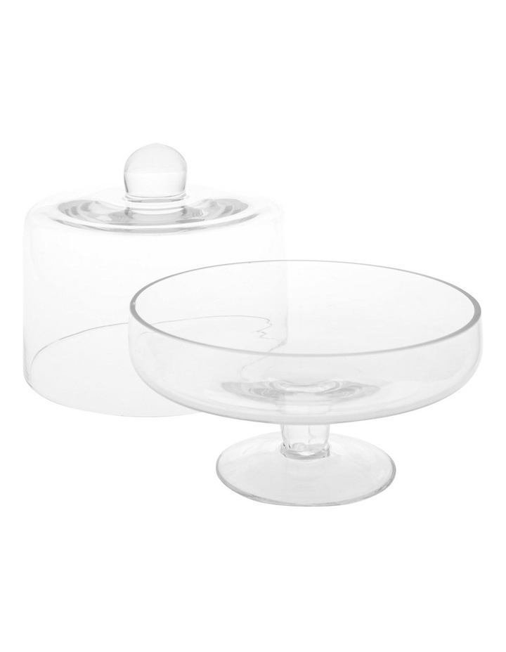 Evelyn Glass Cake Dome and Stand image 2