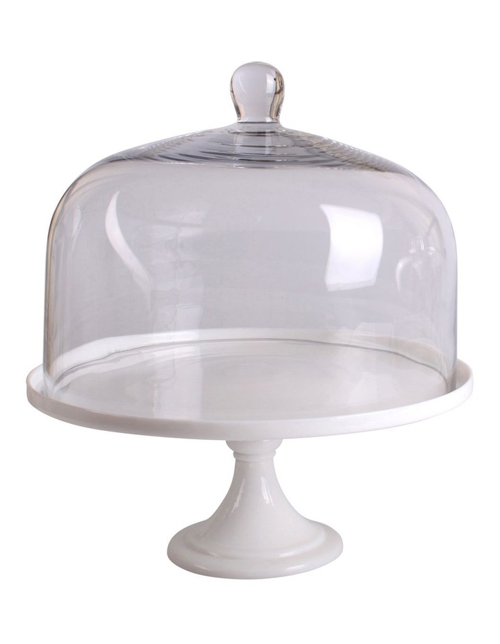 Blanche Cake Dome And Stand 30x33.5cm image 1