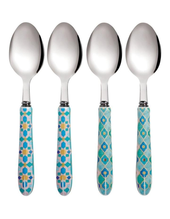 Teas & C's Kasbah Teaspoon Set of 4 Mint Gift Boxed image 1