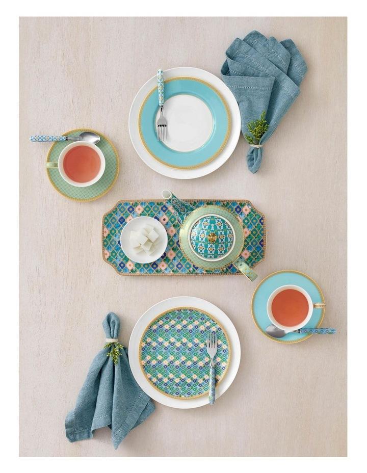 Teas & C's Kasbah Cake Fork Set of 4 Mint Gift Boxed image 2