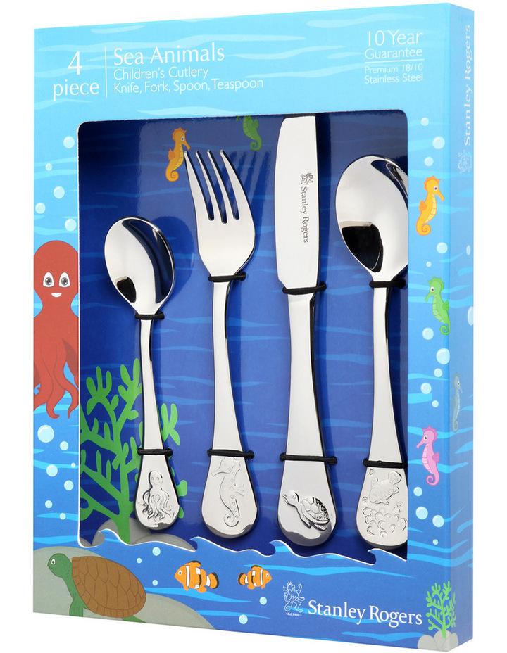 Childrens Cutlery Sea Animals 4 Piece Set image 1