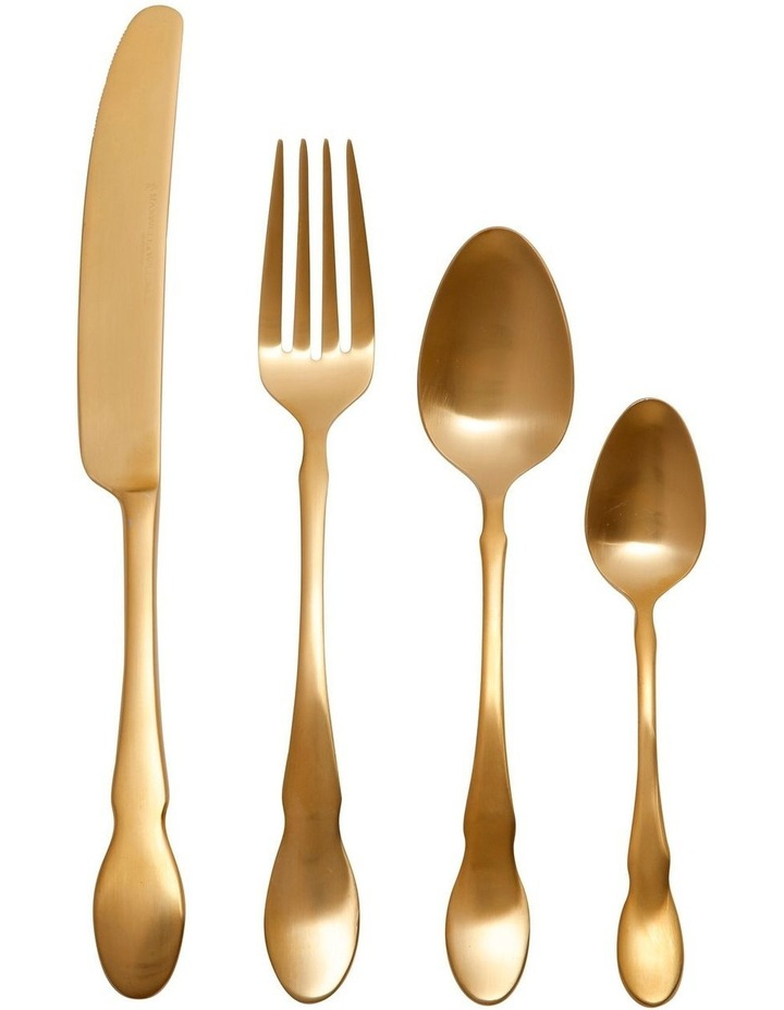 Chester Cutlery Set 16 Piece Gold Gift Boxed image 1