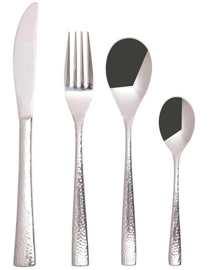 Wayland Hammered Cutlery Set 16pc Silver Gift Boxed image 1
