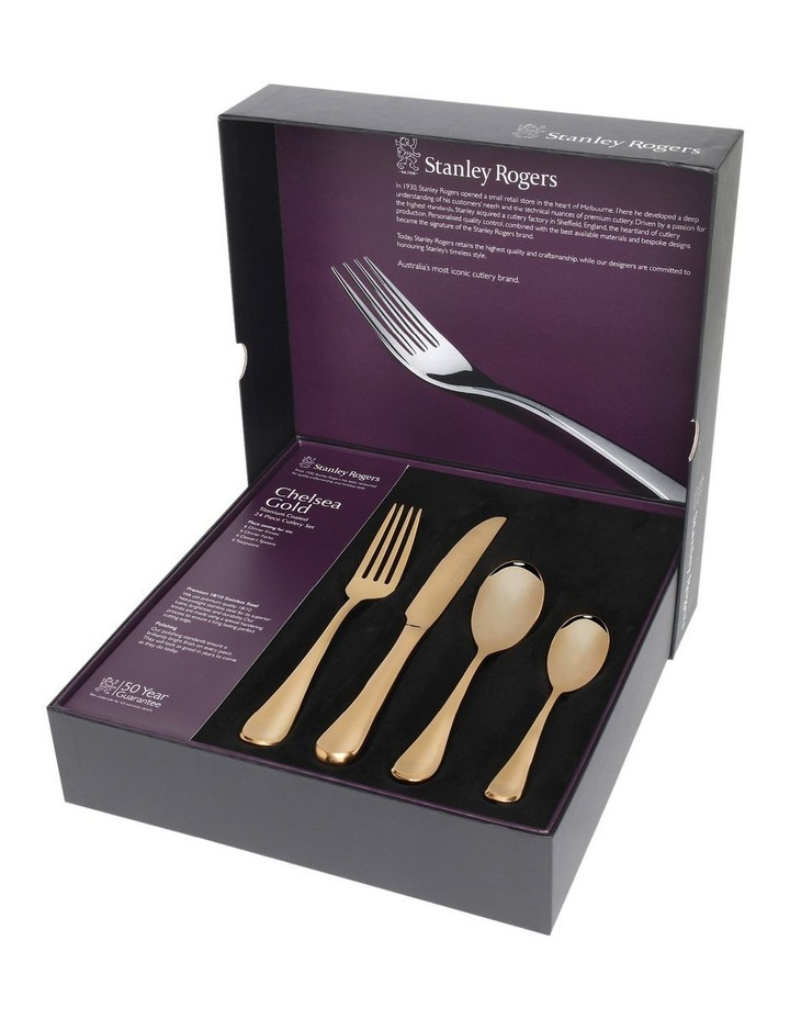 Chelsea Gold 24 Piece Cutlery Set image 4