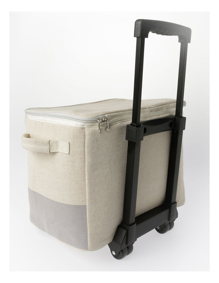 Short Square Cooler Bag With Wheels image 2