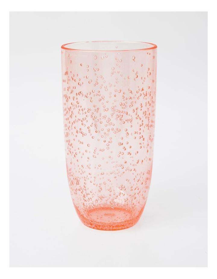 Bubble Jumbo Highball Glass in Blush image 1