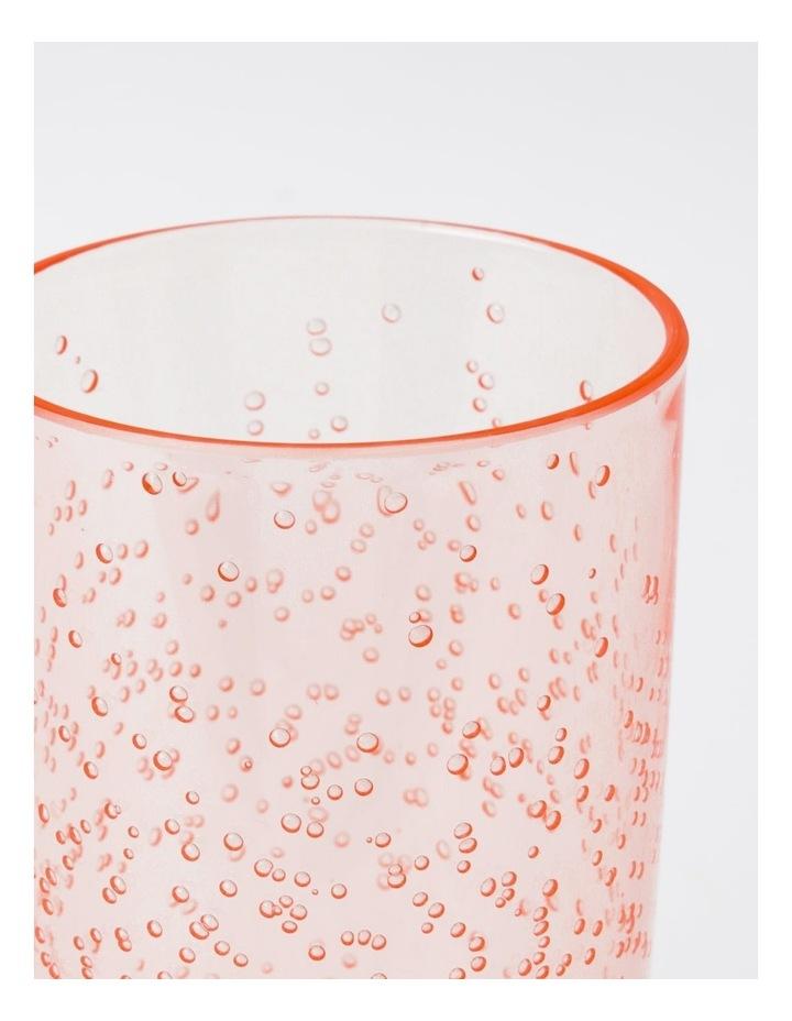Bubble Jumbo Highball Glass in Blush image 2