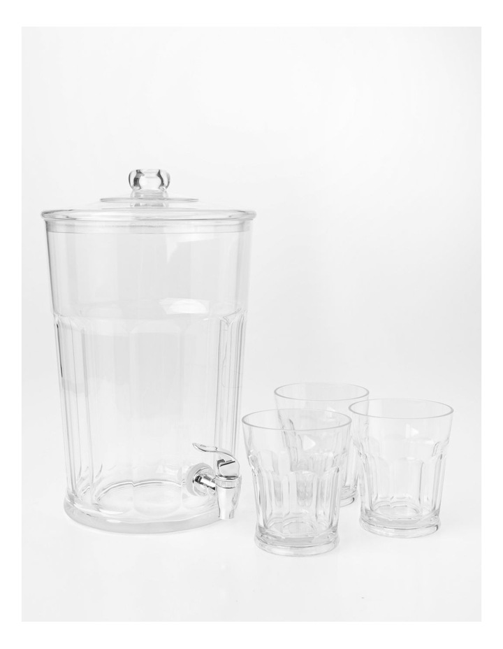 Panel Drinks Dispenser with stacking Tumblers Clear image 1