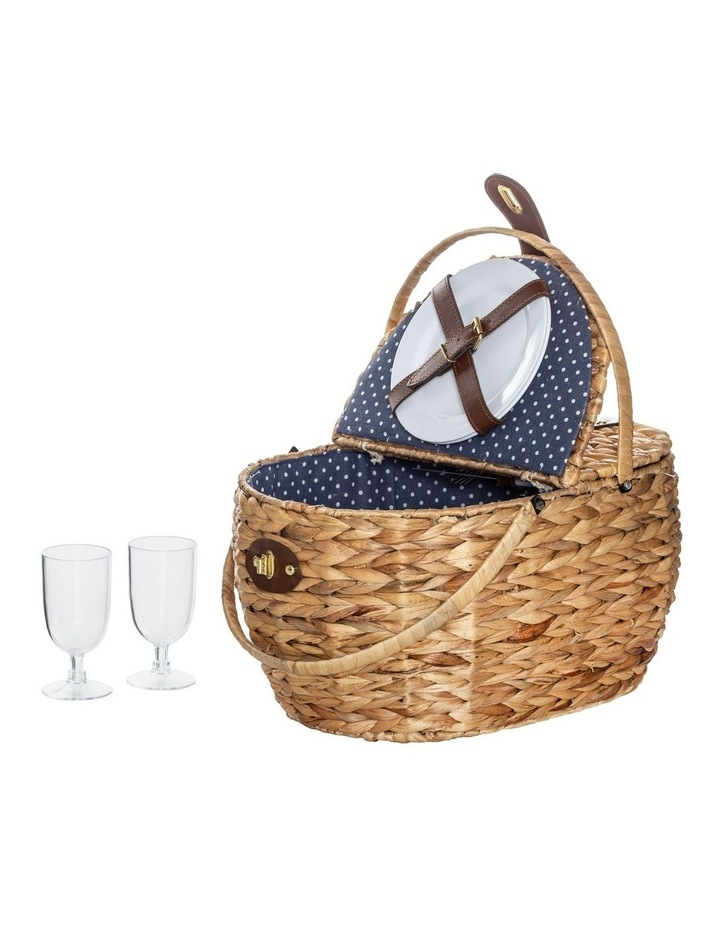 Bulrush Picnic Basket for 2 with 2 Folding Separate Lids image 1