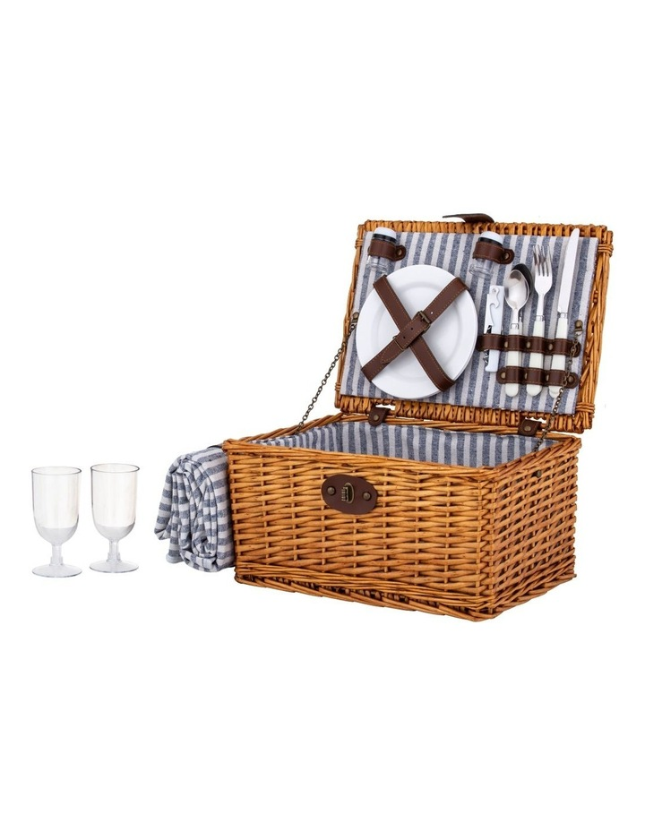 Picnic Basket for 2 People with Picnic Rug image 1