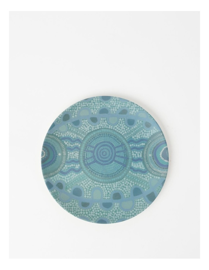 Blue Meeting Place Bamboo Fibre Small Plate image 1