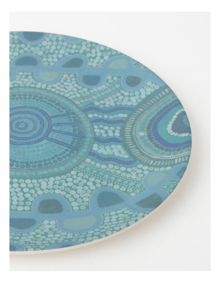 Blue Meeting Place Bamboo Fibre Small Plate image 2