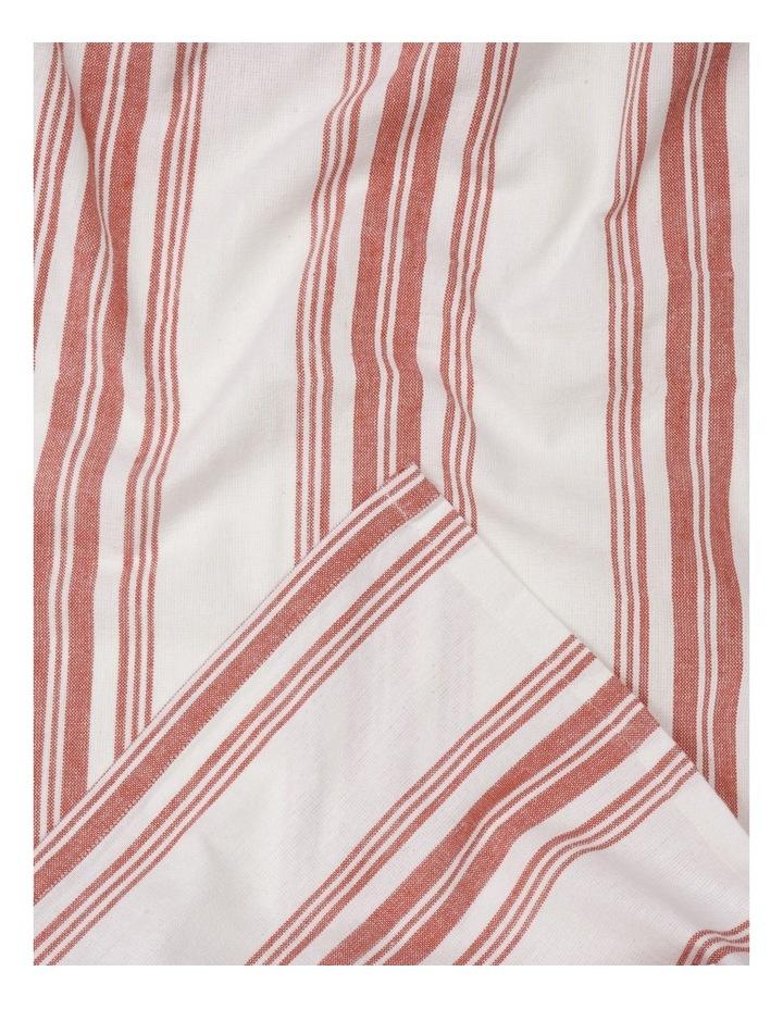 Yarn Dye Red Striped Tablecloth 140x180cm image 1