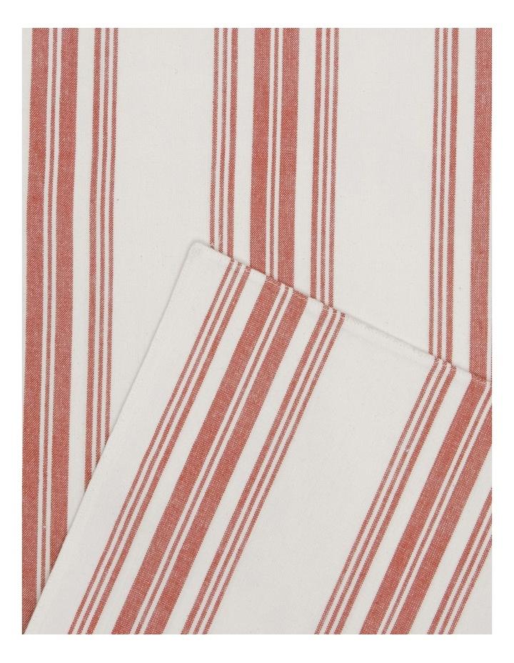 Yarn Dye Red Striped Table Runner 35x150cm image 2
