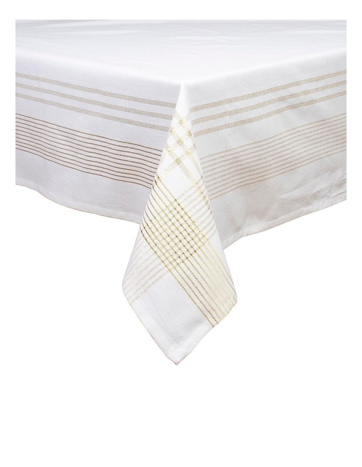 Lurex Boarder Tablecloth 150x225 image 1