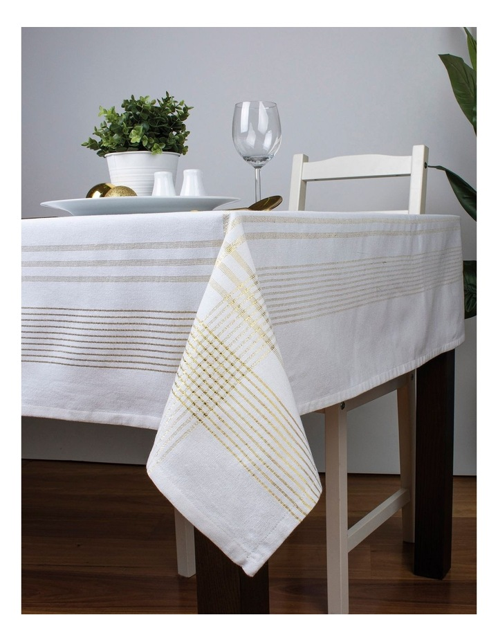Lurex Boarder Tablecloth 150x225 image 2