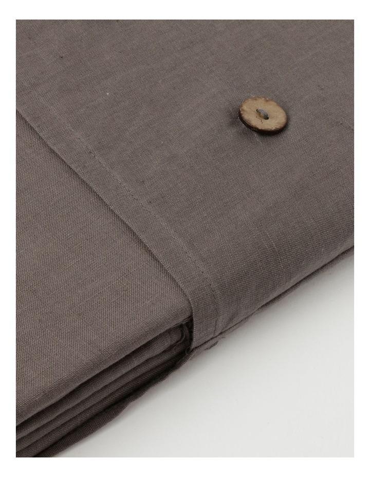 Fringed Linen Tablecloth Dark Stone image 3