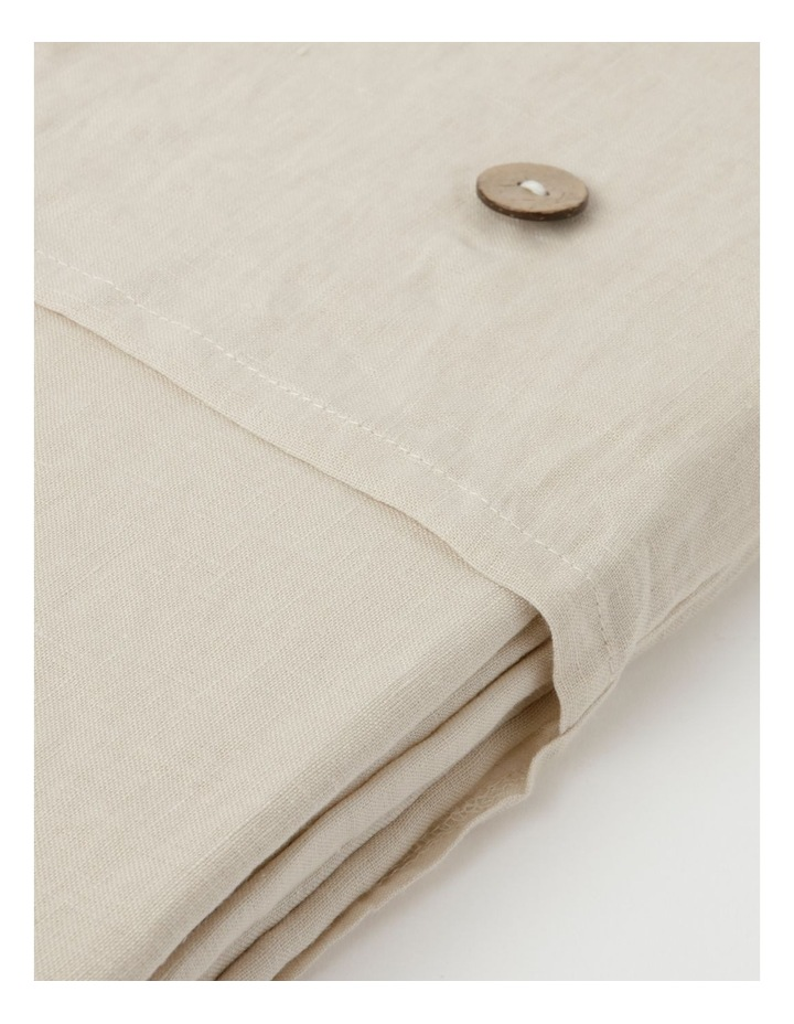 Fringed Linen Tablecloth Natural image 4