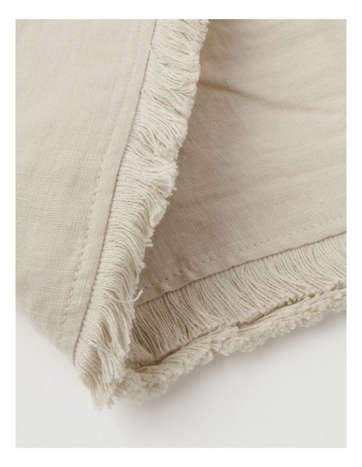 Fringed Linen Tablecloth Natural image 5