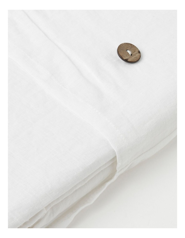 Fringed Linen Tablecloth in White image 4