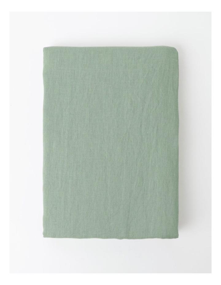 Fringed Linen Tablecloth - Eucalyptus image 1