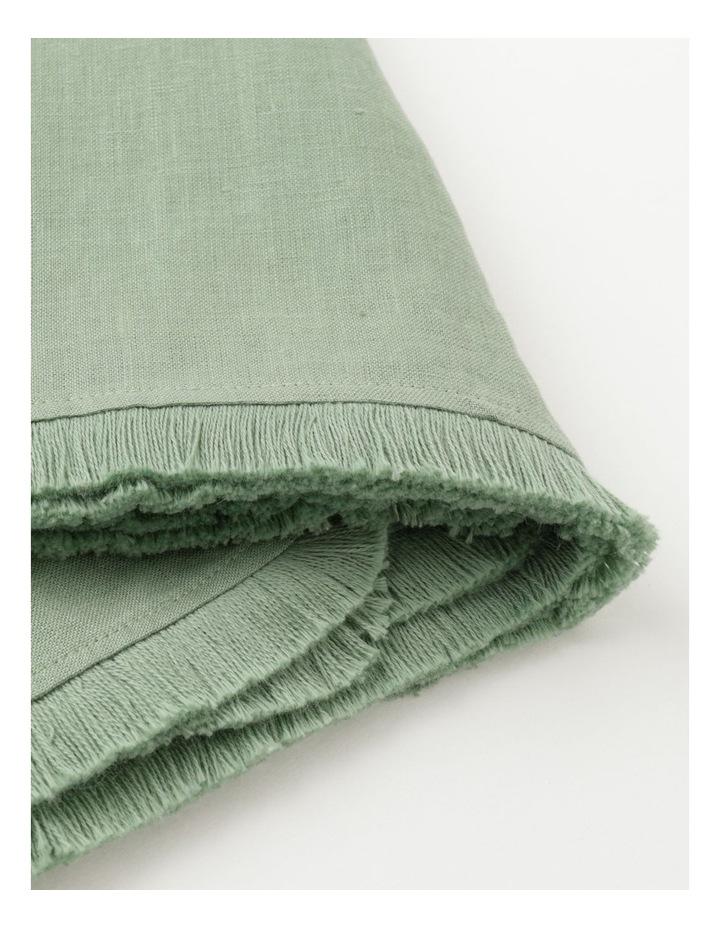 Fringed Linen Tablecloth - Eucalyptus image 2