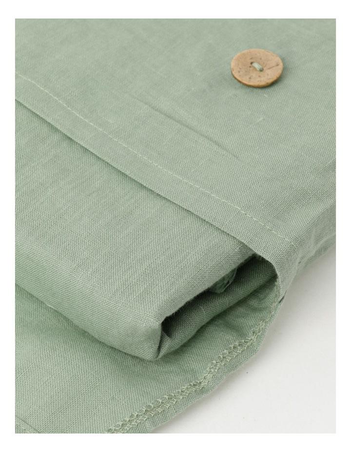 Fringed Linen Tablecloth - Eucalyptus image 3