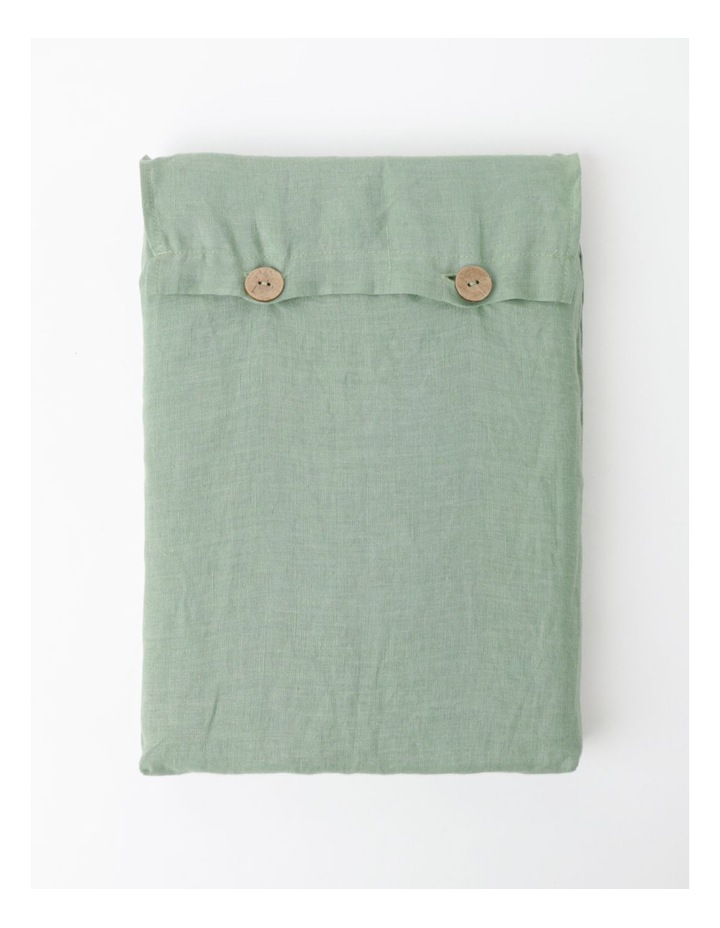 Fringed Linen Tablecloth - Eucalyptus image 4